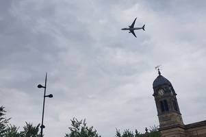 This is why an Airbus A330neo was flying low over Derby