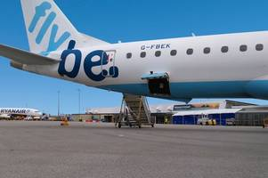 flybe plane makes emergency landing with crack in windscreen
