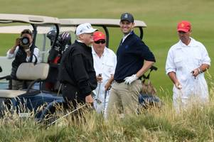 donald trump incredibly proud of turnberry as president's son eric slams paid protesters