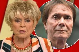 gloria hunniford reveals how sir cliff richard's loyal fans sang one of his songs and 'popped champagne' after singer's privacy case win