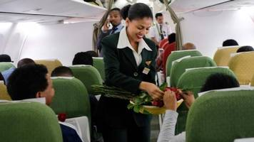 ethiopia airlines makes historic flight to eritrea