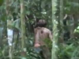last indigenous man of amazon tribe seen on camera in rondonia brazil