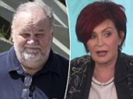 meghan markle's dad 'utterly furious' after sharon osbourne tells him to 'get clean and sober'