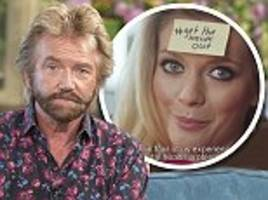 sebastian shakespeare: noel edmonds blasts countdown's rachel riley over advert appearance