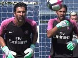 gianluigi buffon gets back to work after nightmare psg debut