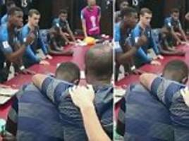 'i want us to be in the memory of all the french people': footage shows what pogba said before final