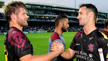 T20 Blast: Somerset beat Middlesex and Derbyshire pick up first victory