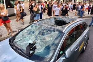 Thousands raised for taxi driver who had his cab smashed in by celebrating England 'fans'