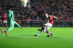 man in court for setting up stall during bristol city 2-1 win over manchester united