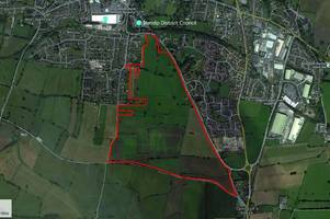 plans submitted for 600 homes, primary school and care home off the a37 in shepton mallet