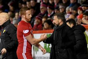 derek mcinnes laments adam rooney departure and insists aberdeen shouldn't be losing players to english lower leagues
