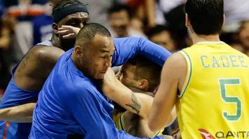 philippines v australia basketball: 13 players suspended after on-court brawl
