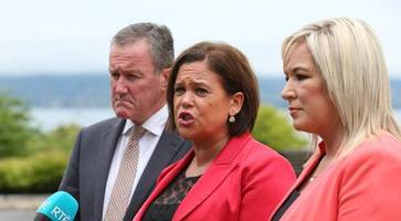 sinn fein accuse prime minister may of visiting belfast to pick a fight