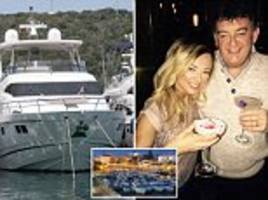 water, water everywhere... from deck of £2million yacht owned by utility boss who wants hosepipe ban