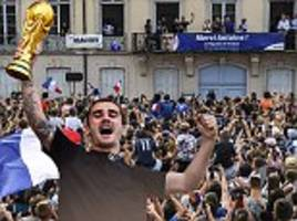 antoine griezmann returns to his hometown of macon to celebrate france's world cup win