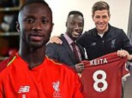 naby keita would pretend to be steven gerrard and now wears his shirt