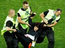 world cup final stewards face 'disciplinary measures' over pussy riot pitch invasion