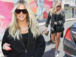 khloe kardashian looks slim and trim while heading to hollywood poker game with pal scott disick