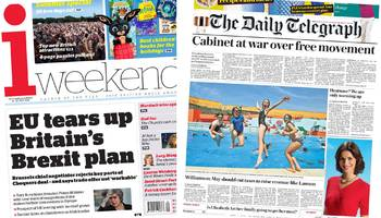 The Papers: Britain's Brexit plan 'savaged by EU'