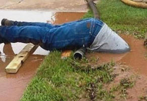 plumber goes above and beyond the call of duty
