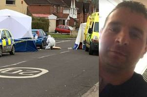 man jailed for life for stabbing friend through body with 'fearsome' sword after hiding in garden