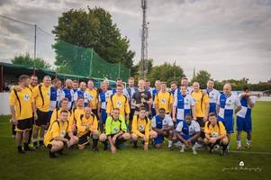 bristol rovers heroes line up to take on fans in memorial match