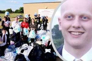1,000 bags collected by students to help others like Joe