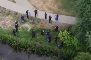 drone video shows police searching park in novichok investigation