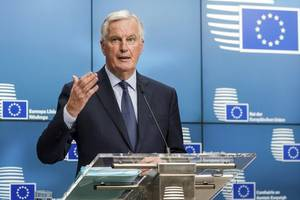 brexit: eu chief negotiator michel barnier takes apart theresa may's chequers white paper plan