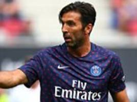 gianluigi buffon makes public psg debut against bayern munich