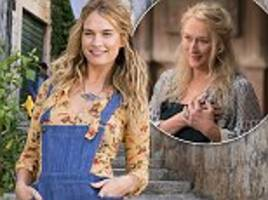 mamma mia! here we go again stars lily james and meryl streep are related