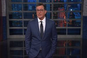 colbert goofs on trump's white house invite to putin: 'chicken, fish or the launch codes'