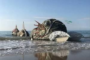 a giant sea monster is touring the welsh coast - and this is when you can see it