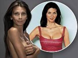 christa d'souza says she has finally learned to love her natural breasts after four boob jobs