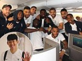 christian eriksen, son heung-min and tottenham stars jet off to us for international champions cup