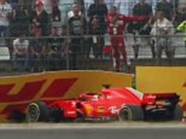 sebastian vettel sorry to ferrari after gaffe that saw him crash out of german grand prix