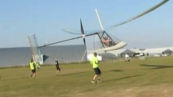 human-powered planes compete in sywell aerodrome tournament