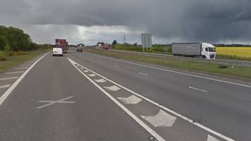 one dead in a1 nottinghamshire lorry and car collision