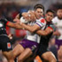 rugby league: melbourne storm hold off new zealand warriors in nrl battle