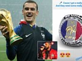antoine griezmann wants diamond-encrusted rings to celebrate france's world cup win