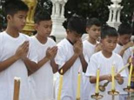 'spiritual cleansing' of thai cave boys begins as ordained as buddhist novices in memory of rescuer