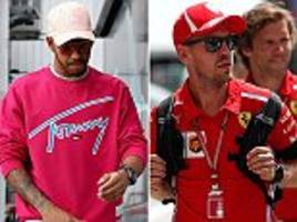 hamilton, vettel and f1 stars arrive for hungarian grand prix