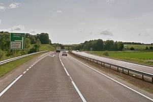 motorists travelling on a9 near dunblane warned to expect disruption this weekend