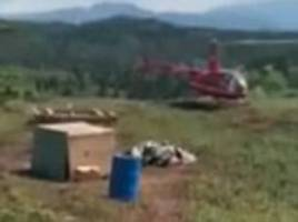 now that's customer service! alaska airlines delivers a passenger's lost luggage... by helicopter