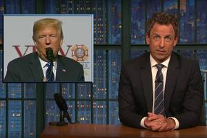 seth meyers has one big question for trump: 'why are you so weird, dude?' (video)