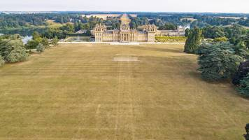 blenheim palace's lost garden revealed by heatwave