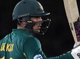 quinton de kock hits impressive 87 to set up four-wicket victory in second odi against sri lanka