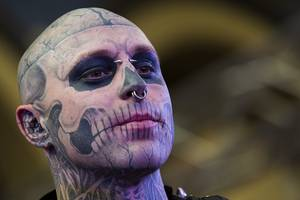 lady gaga mourns death of 'born this way' video performer zombie boy: 'beyond devastated'