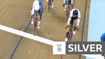 european championships 2018: emily kay wins silver for britain in the women's 10km scratch race cycling