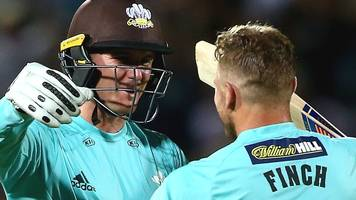 t20 blast: aaron finch & jason roy lead surrey to win over middlesex